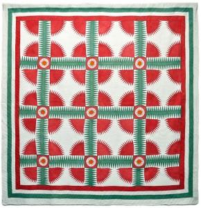 New York Beauty pieced quilt, unknown maker, c. 1850, Kentucky. Photo by Bill Volckening