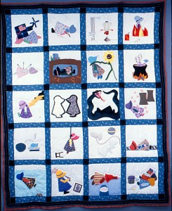 'Sun Sets on Sunbonnet Sue' Quilt