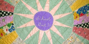 Detail of the Kansas School District 71 Quilt - Late 1930s