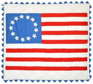 Bicentennial Flag Quilt - Photo courtesy of Bill Volckening