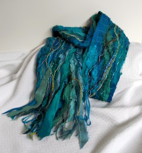 Fiber Collage Scarf
