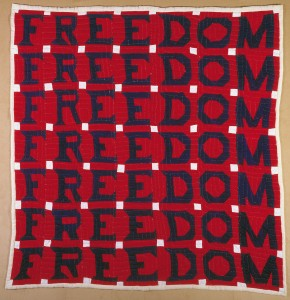 """Freedom Quilt, 1983, 74"""" x 68"""", made by Jessie B. Telfair (1913 - 1986), Parrot, GA. Courtesy of the American Folk Art Museum, New York"""