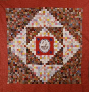 """Grover Cleveland Quilt, 1884 - 1890, 61"""" x 75"""", courtesy of the American Folk Art Museum, New York"""