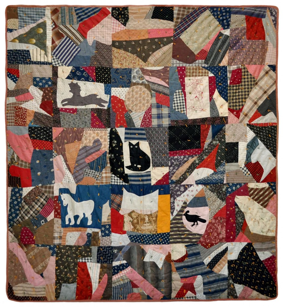Black Cat Crazy Quilt by Nell Breyton of Edwards, Saint Lawrence, New York