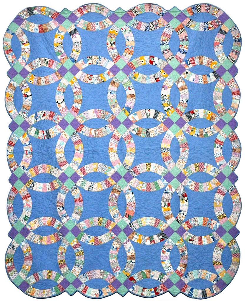 Double Wedding Ring quilt - c. 1930, Collection of Bill Volckening