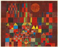 Castle and Sun (1928) - painting by Paul Klee, oil on canvas