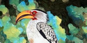 Yellow Billed Hornbill by Caryl Bryer Fallert-Gentry